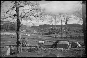 General view of 2 New Zealand Division HQ at Casale, Italy, World War II - Photograph taken by George Bull