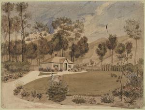 Heaphy, Charles 1820-1881 :[The home of Mr & Mrs William Bishop, Maitai Valley] [1844?]
