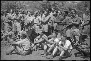 Spectators at 5 NZ Infantry Brigade Sports Meeting in Volturno Valley area, Italy, World War II - Photograph taken by George Kaye
