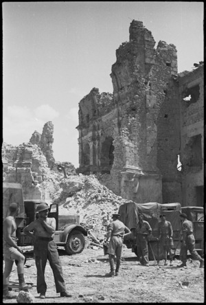 Remains of Cassino Cathedral, Italy, World War II - Photograph taken by George Kaye