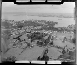 Birkenhead residential area looking to the Waitemata Harbour and Auckland City