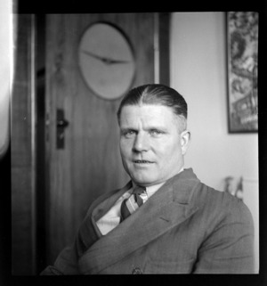 Portrait of Cam Linwood, Whites Aviation Office, Auckland