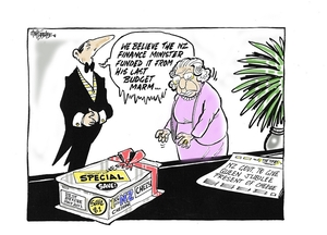 Hubbard, James, 1949- :'We believe the NZ Finance Minister funded it from his last Budget Marm...'. 6 June 2012