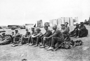Soldiers taking a break at No 2 Outpost, Gallipoli, Turkey