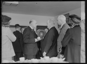 Sir Patrick Duff, left, with another man [Mr Holdering?], at an unidentified event, probably Auckland