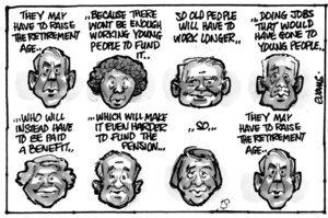 Evans, Malcolm Paul, 1945- :'They may have to raise the retirement age...'. 12 June 2012