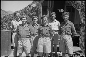 Group of officers of the New Zealand Divisional Ordnance in Italy, World War II - Photograph taken by George Bull
