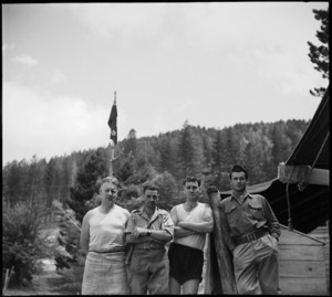 Some members of the NZ Forestry Unit in southern Italy, World War II - Photograph taken by M D Elias
