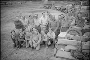 Some of the jeep drivers making up 'Ghost Train' to transport supplies on the Italian Front, World War II - Photograph taken by George Kaye