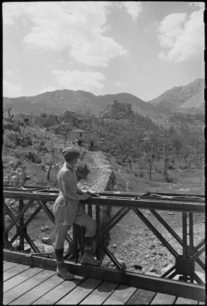 Village of Belmonte, Italy, captured by 23 NZ Battalion in World War II - Photograph taken by George Kaye