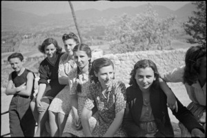 Group of Italian women in the village of Alvito during World War II - Photograph taken by George Kaye