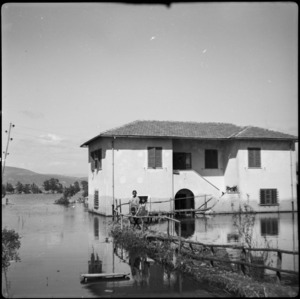 Farm-house on the flooded Pontine Marshes in Italy - Photograph taken by Cedric Mentiplay