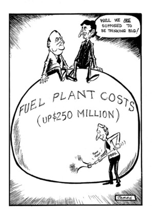 Lynch, James, 1947-:Fuel Plant Costs (up $250 Million). 12 January 1981