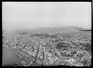Wellington City, including shipping, wharves and Thorndon area