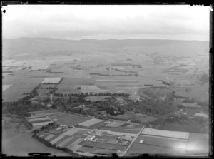 Rural area, Palmerston North, Manawatu, featuring Massey Agricultural College