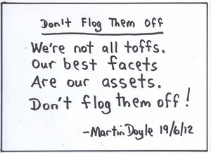 Doyle, Martin, 1956- :Don't flog them off. 19 June 2012