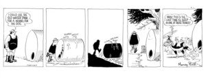 Ball, Murray Hone, 1939-2017:'I could use the old water tank for a kennel for the dog.' Footrot Flats/36. 1976.