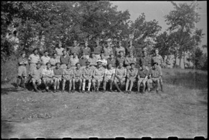 General Bernard Freyberg and senior officers at Divisional Headquarters in Arce, Italy, World War II - Photograph taken by George Bull