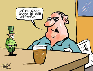 "Hawkey, Allan Charles, 1941- :""Let me guess - you're an Irish supporter."" 22 June 2012"