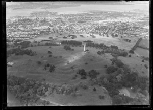 View of One Tree Hill, looking towards Onehunga and Mangere, Auckland