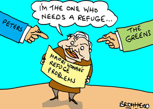 """Bromhead, Peter, 1933-:Maori Woman's Refuge problems - """"I'm the one who needs a refuge..."""" 29 June 2012"""