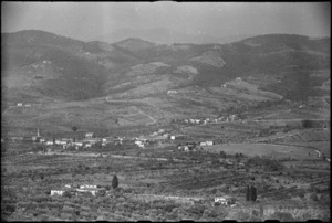 Italian village of Serbaia captured by 26 New Zealand Battalion in World War II - Photograph taken by George Kaye