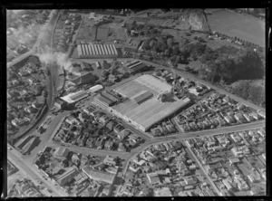 Henderson and Pollard, timber merchants factory, Auckland City, including surrounding area