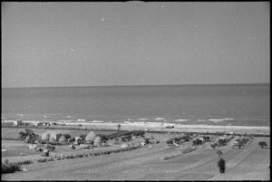 Location of Rest Camp organised by 6 NZ Field Ambulance on shores of Adriatic, Italy, World War II - Photograph taken by George Kaye