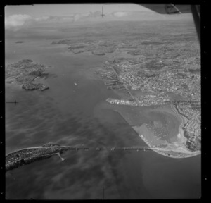 Auckland City, including construction of the Auckland Harbour bridge and Westhaven Marina