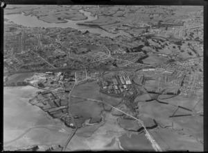 Otahuhu, Auckland, including industrial and housing area