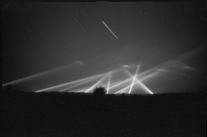 Searchlights used in the forward areas of the Rimini front, Italy, World War II - Photograph taken by George Kaye