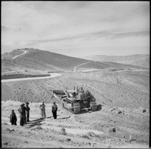 The 21 NZ Mechanical Equipment Company road making in Trans Jordania, World War II - Photograph taken by M D Elias