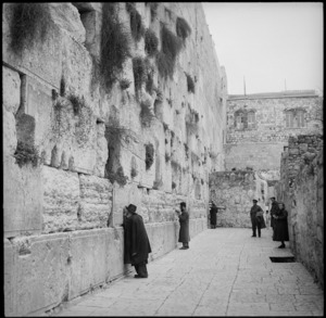 Wailing Wall in Jerusalem, World War II - Photograph taken by M D Elias