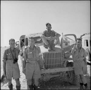 Medical personnel on the Alamein front, Egypt, World War II - Photograph taken by H Paton