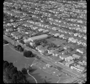 Mt Roskill/Onehunga area, Auckland, with playground and streets of houses
