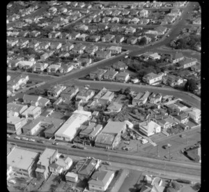 Mt Roskill/Onehunga area, Auckland, including unidentified business premises/factories, and houses