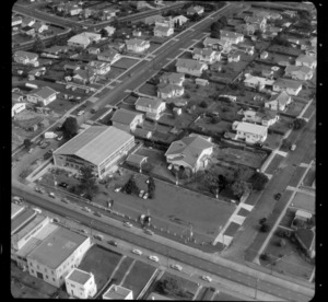 Mt Roskill/Onehunga area, Auckland, including an Independent Grocers Alliance (IGA) supermarket with carpark, and rows of houses