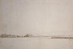 [Smith, William Mein] 1799-1869 :Tauherenikau Hotel, Wairarapa. [186-]