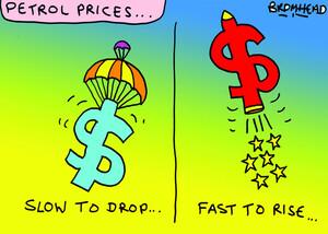 Bromhead, Peter, 1933-:Petrol prices. 6 July 2012