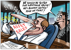 Nisbet, Alastair, 1958- :'He should be tested for substance abuse! He's always getting' high on that!'. 3 July 2012