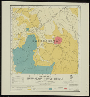 Geological map of Maungakawa survey district [cartographic material] / drawn by G.E. Harris.
