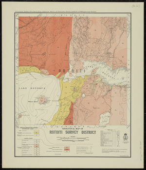 Geological map of Rotoiti survey district [cartographic material] / drawn by G.E. Harris.