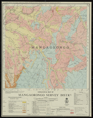 Geological map of Mangaorongo survey distrt. [cartographic material] / compiled and drawn by A.W. Hampton.