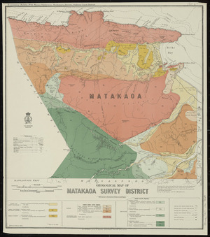 Geological map of Matakaoa survey district [cartographic material] / drawn by G.E. Harris.