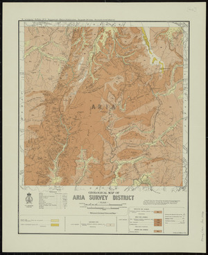 Geological map of Aria Survey District [cartographic material] / drawn by G.E. Harris.