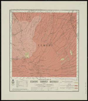 Geological map of Egmont Survey District [cartographic material] / drawn by G.E. Harris.