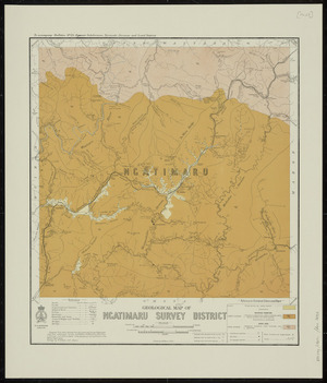 Geological map of Ngatimaru Survey District [cartographic material] / drawn by G.E. Harris.