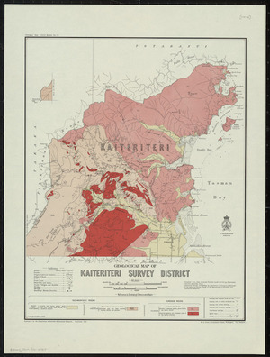 Geological map of Kaiteriteri Survey District [cartographic material] / drawn by G.E. Harris, 1930.