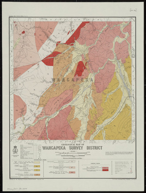 Geological map of Wangapeka survey district / drawn by G.E. Harris, 1930.