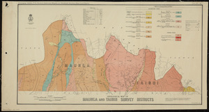 Geological map of Maunga and Tainui Survey Districts / drawn by G.E. Harris.